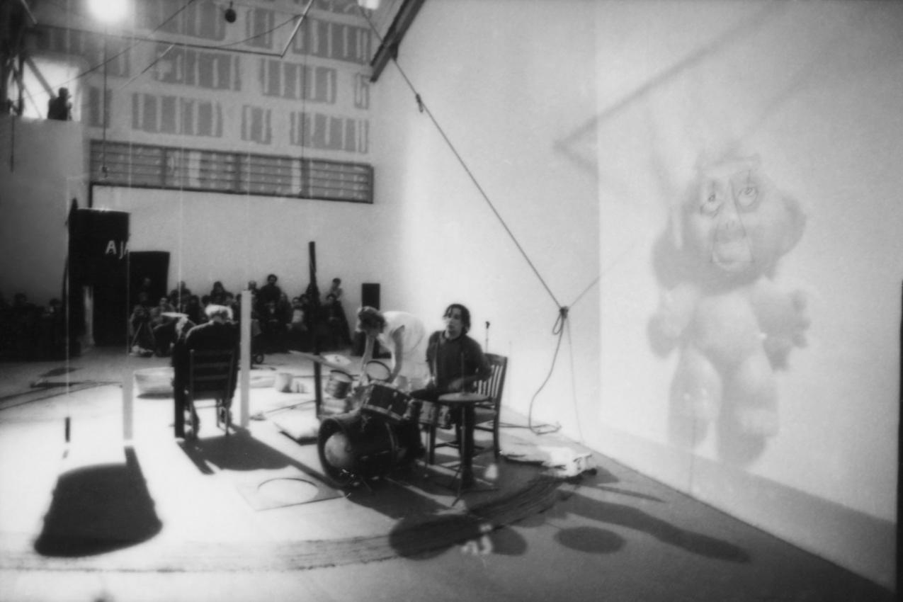Performance documentation, Museum of Contemporary Art, Los Angeles, 1984.