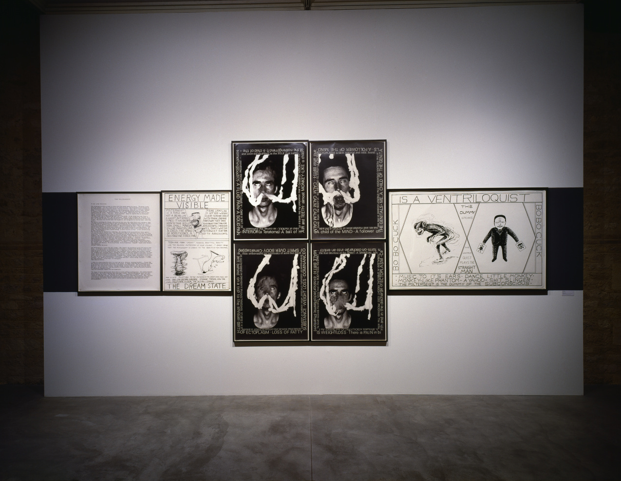 Installation view, CapcMusee d'art contemporain de Bordeaux, France, 1992