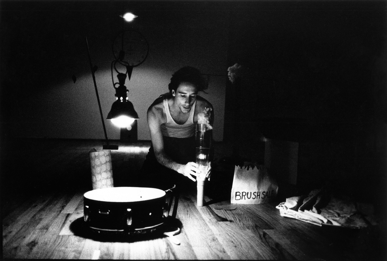 Performance documentation, The Kitchen, New York, 1980.
