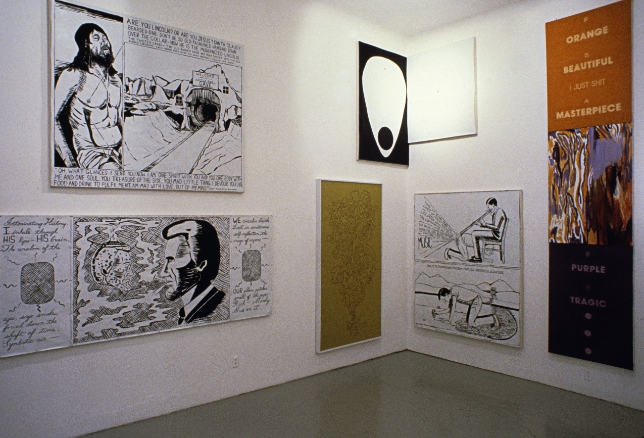 Installation view, Rosamund Felsen Gallery, Los Angeles, 1985.
