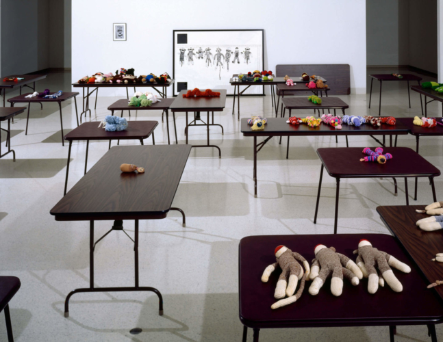 "Installation view, ""Carnegie International 1991,"" Carnegie-Mellon University Museum, Pittsburgh, 1991."