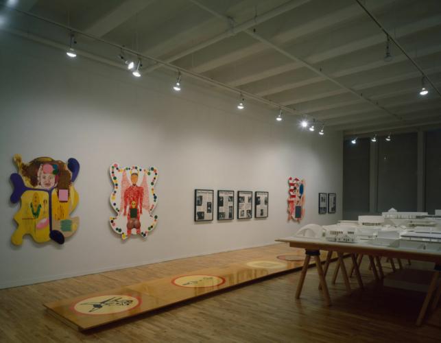Installation view, Eduardo Sarabia: Drifting on a Dream, The Mistake Room, Los Angeles, CA, September 16, 2017-January 20, 2018.