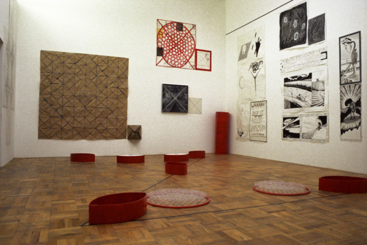 Installation View, Rosamund Felsen Gallery, Los Angeles, 1983.