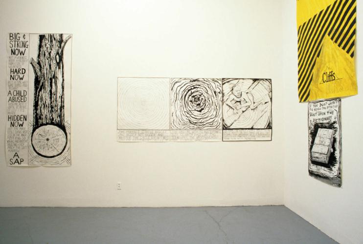 Installation view, Rosamund Felsen, Los Angeles, 1984.