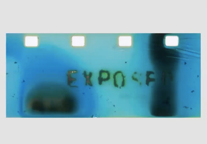 Dagie Brundert, Exposed, 2020. Still image from Super 8 Eco-Processed Film transferred to digital video.