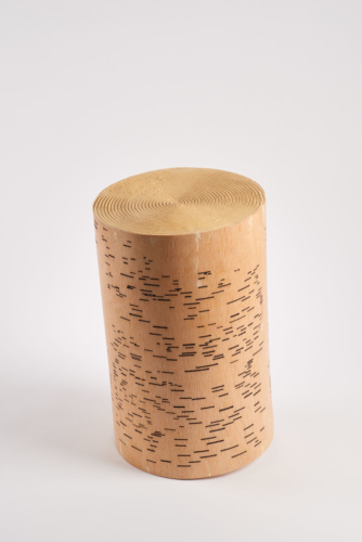 María Elena González, Turn I, 2016. Wood, putty and lacquer.