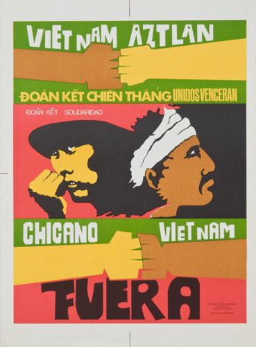 Malaquías Montoya, Chicano Vietnam Project, Viet Nam Aztlan, 1973.