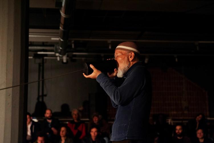 Akio Suzuki & Aki Onda, Performance, Athens Conservatoire (Odeion), documenta 14, Athens, 2017.