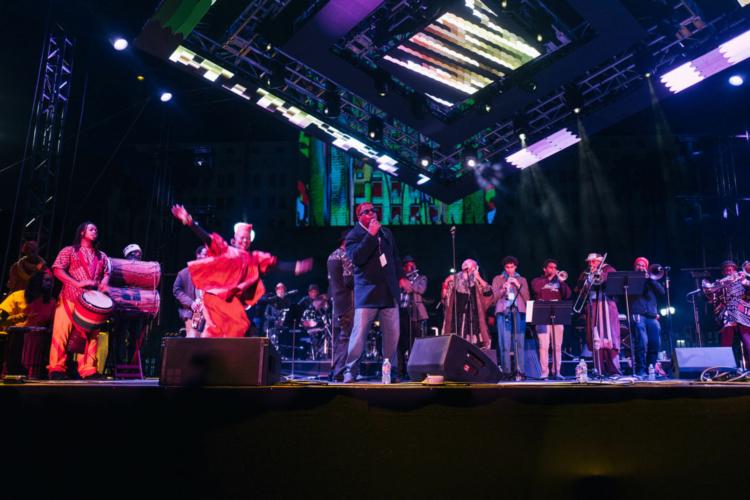 Pan Afrikan Peoples Arkestra live at 2020 NYE concert at Grand Park.