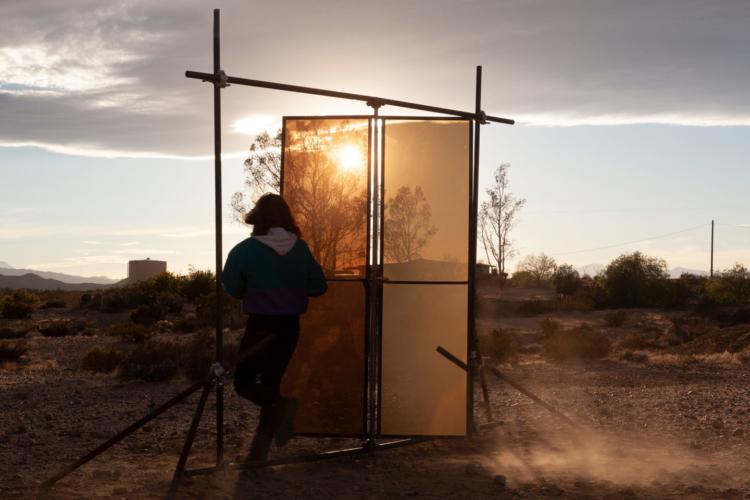 Tanya Brodsky, Portal, 2020. Steel, plexiglass, hardware.