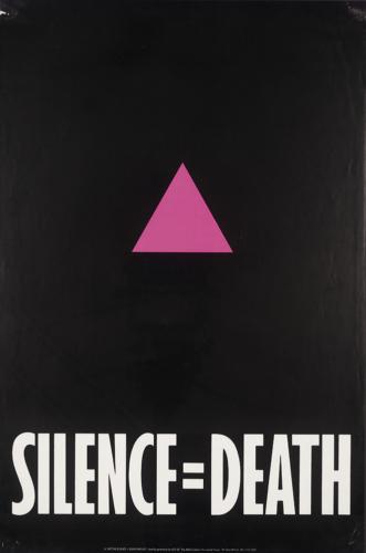 The Silence=Death Project, ACT UP/NY, Silence=Death, 1987.