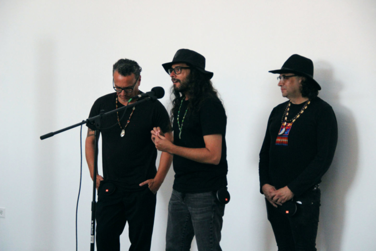 Postcommodity and Guillermo Galindo, Sy/stem, July 31, 2019. Interactive performance at 18th Street Arts Center's Airport Campus.