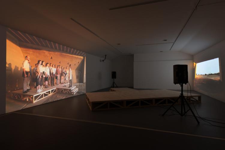 Jimena Sarno, from sea to shining sea, 2017. Sculpture, sound, and video installation. Art © Jimena Sarno.