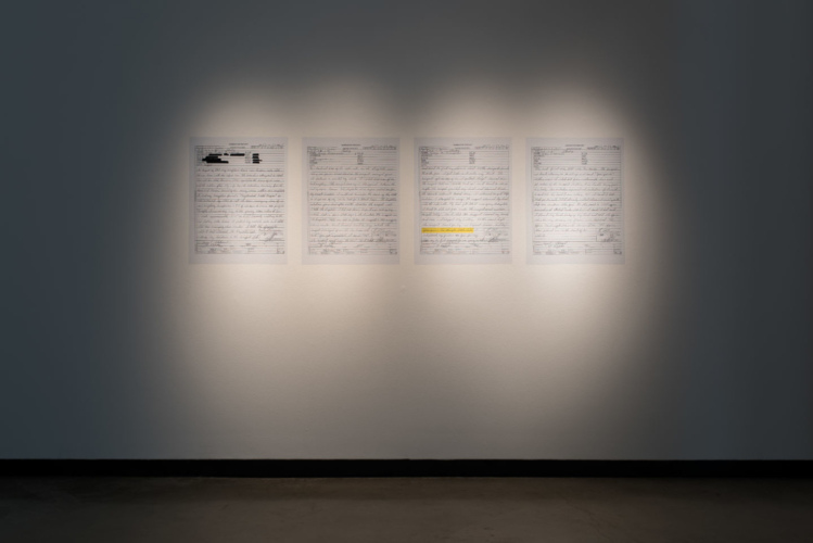 Installation view, lauren woods: American MONUMENT, University Art Museum, California State University, Long Beach, CA, September 17-December 9, 2018.