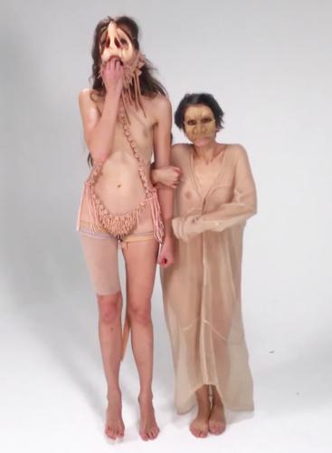 Kira Nova and Ana Prvački, Facia Slapstick, Video Still, 2020.  Shown as part of the live performance Facia Slapstick at JOAN, November 17, 2020.