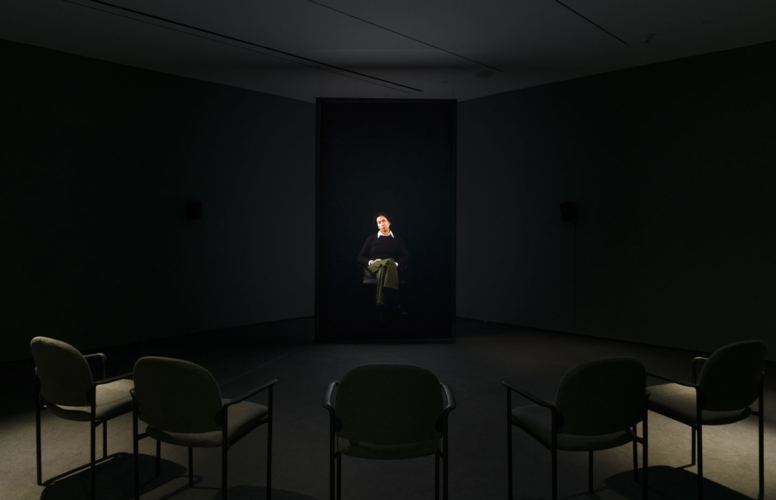 Installation view, Hammer Projects: Andrea Fraser, Hammer Museum, Los Angeles, CA, May 18-September 15, 2019.