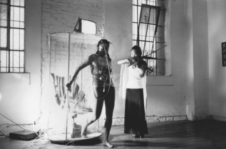 "Patricia Valencia, ""In Search of Aztlántis,"" c. 1996-97, Performance still. Courtesy of the Artist."