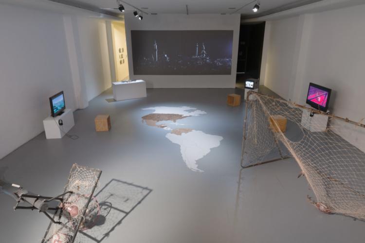 Installation view of Intergalactix:against isolation/contra el aislamiento, LACE, 2021.