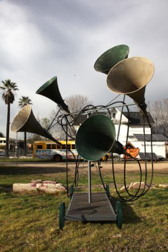 Elana Mann, Listening as (a) Movement. Installation View, Side Street Projects Pasadena, 2013.