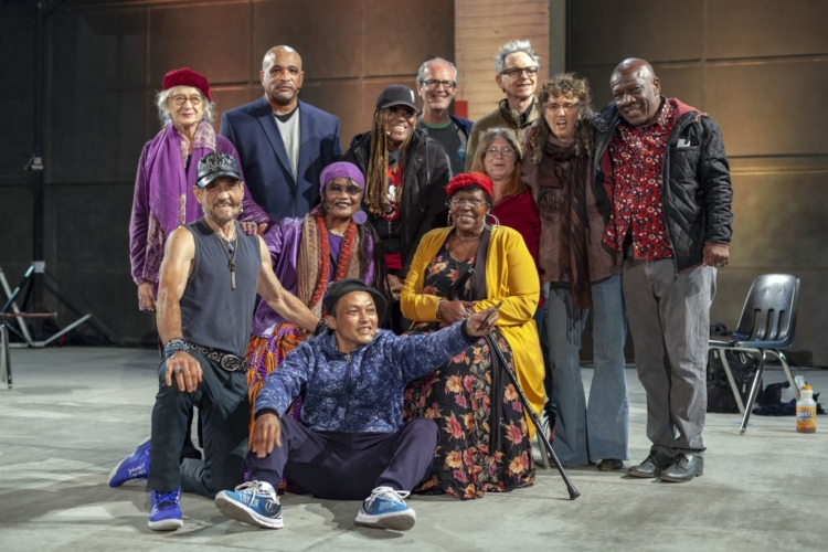 The New Compassionate Downtown, performance by Los Angeles Poverty Department at Geffen MOCA, 2021.
