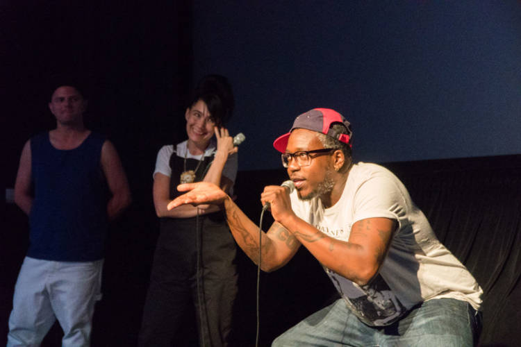 Bradford Nordeen, Kathleen Hanna, Brontez Purnell discuss Unstoppable Feat: The Dance of Ed Mock after its screening at Downtown Independent, Los Angeles, July 2, 2018.