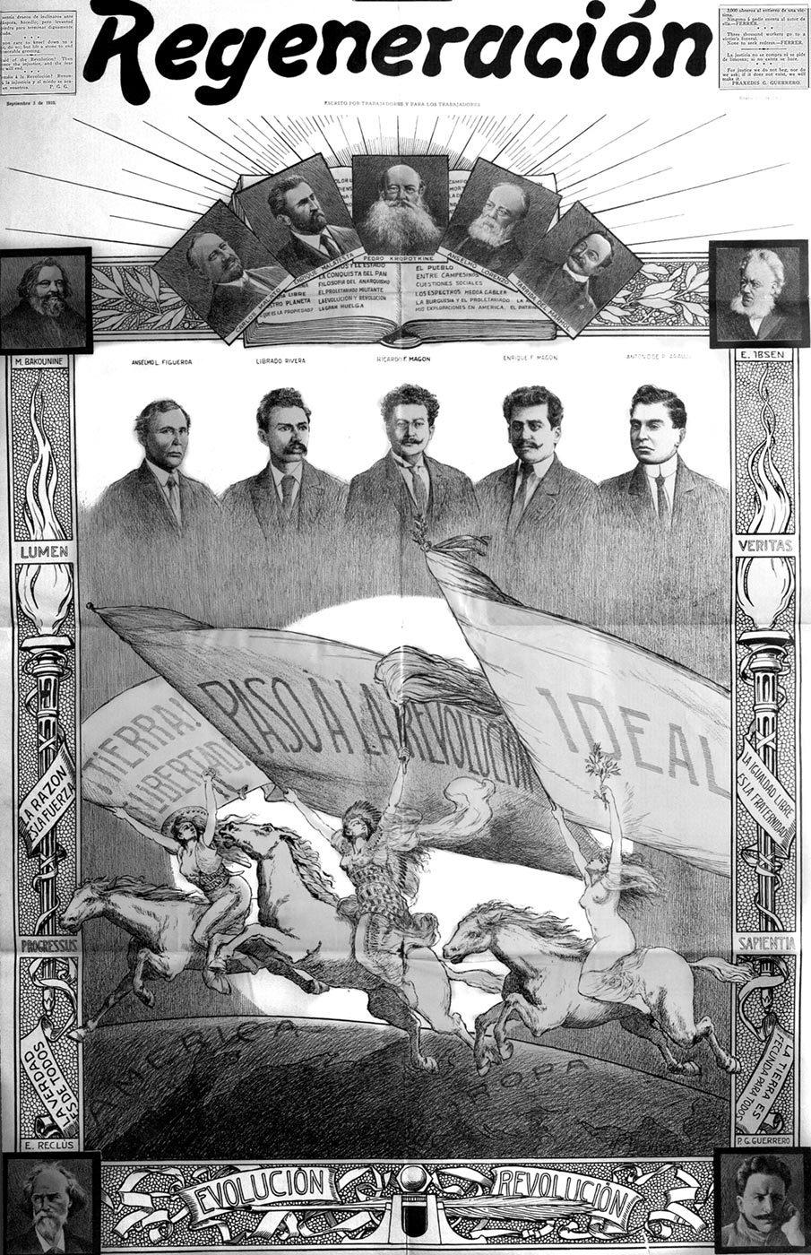 Fermín Sagristà. Poster included in Regeneración no. 122, January 1, 1913. Courtesy of El Archivo Electrónico Ricardo Flores Magón and Vincent Price Museum.